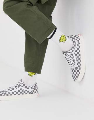 Asos Design DESIGN sports socks with mr. happy design