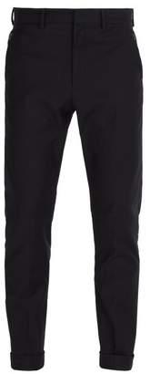 Bottega Veneta Slim Leg Cotton Blend Chino Trousers - Mens - Dark Navy