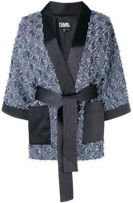 Karl Lagerfeld jacquard kimono jacket