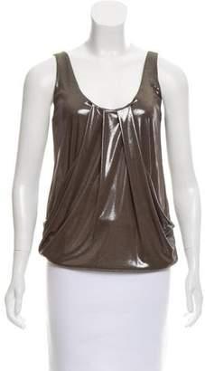 Diane von Furstenberg Sleeveless Metallic Top