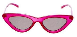 Le Specs Adam Selman x Cat-Eye Mirrored Sunglasses