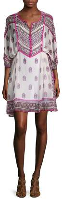 Calypso St. Barth Women's Mauzi Silk Printed Flare Dress