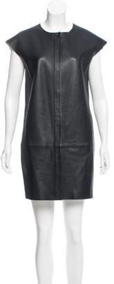 J Brand Cap Sleeve Leather Dress