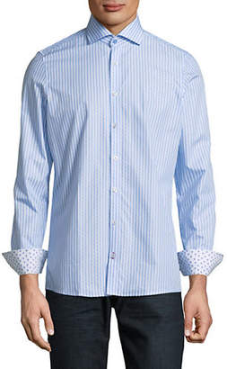 Pure Striped Slim-Fit Cotton Sport Shirt