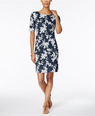 Karen Scott Floral-Print T-Shirt Dress, Only at Macy's $44.50 thestylecure.com