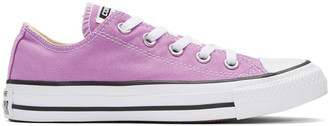Converse Purple Classic Chuck Taylor All Star OX Sneakers $50 thestylecure.com