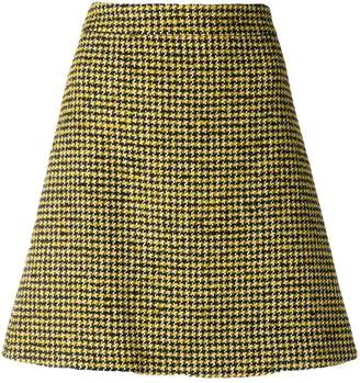 Paul Smith dogtooth pattern skirt