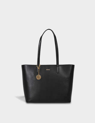 DKNY Bryant Large Tote Bag in Black Sutton Textured Leather