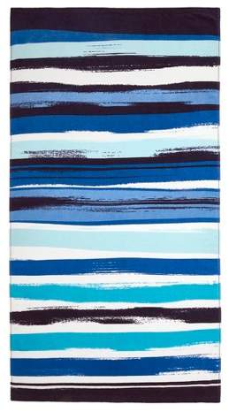 Wavy Stripe Beach Towel Cool Blue