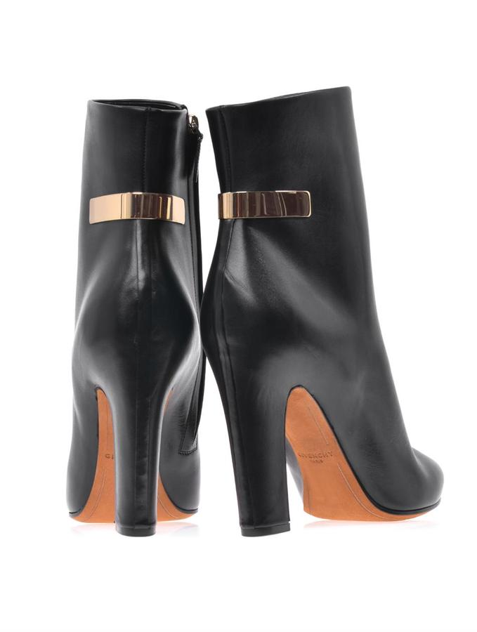 Givenchy Gold-plate leather ankle boots