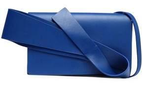 DELPOZO Bow-Embellished Leather Shoulder Bag