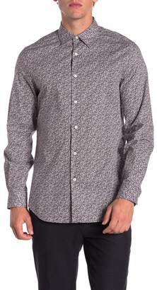 Perry Ellis Floral Print Stretch Slim Fit Shirt