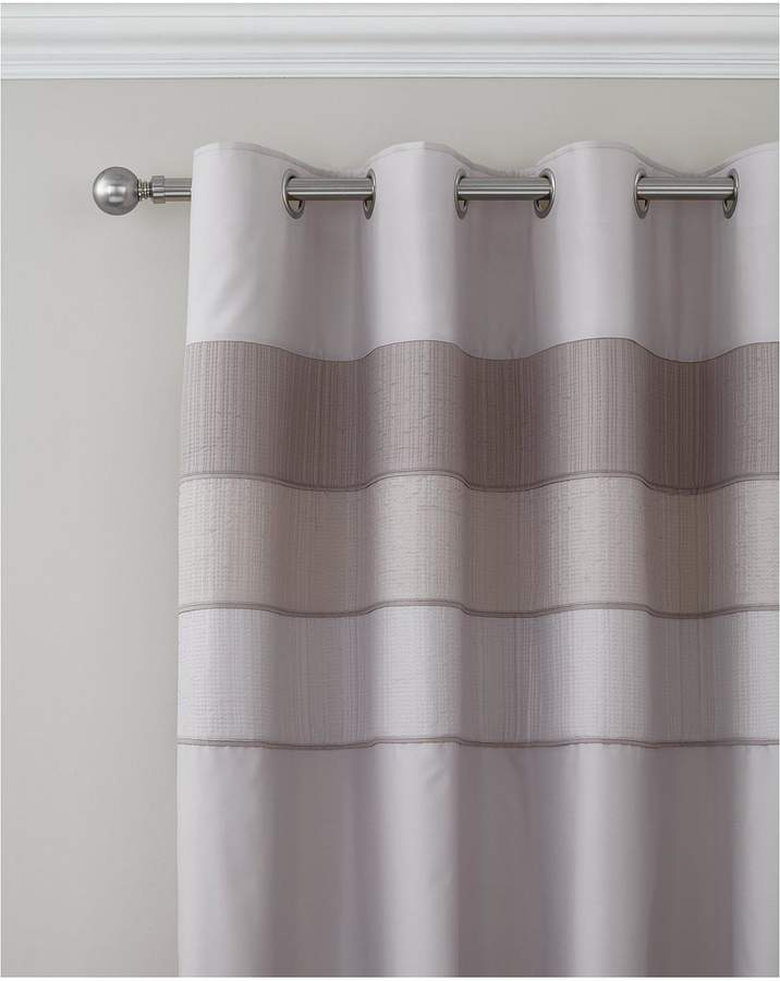 Catherine Lansfield Ombre Ribbed Bands Lined Eyelet Curtains