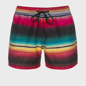 Paul Smith Men's Rainbow 'Blanket Stripe' Swim Shorts $90 thestylecure.com