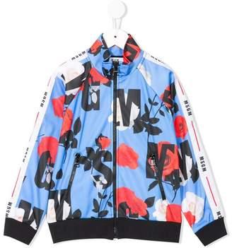 MSGM roses print zipped jacket