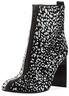 Rag & Bone Ellis Cheetah-Flocked Suede Bootie