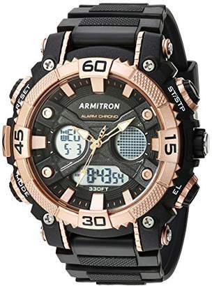 Armitron Sport Men's 20/5108BRG Analog-Digital Chronograph Rose Gold-Tone and Black Resin Strap Watch