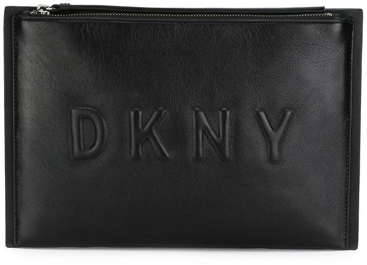DKNYDKNY embossed logo clutch