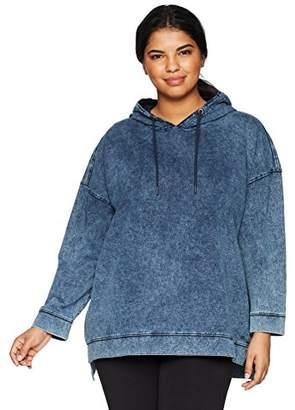 Andrew Marc Women's Plus Size Denim Hooded Pullover