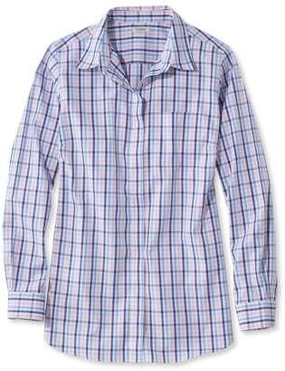 L.L. Bean L.L.Bean Wrinkle-Free Pinpoint Oxford Tunic, Long-Sleeve Gingham