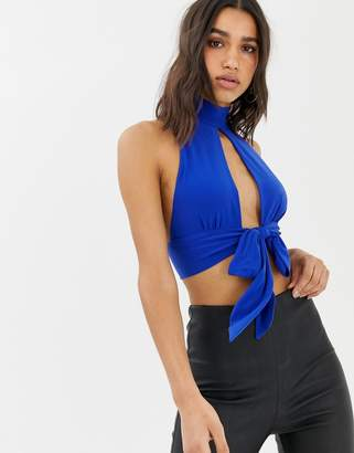 Love cropped top with tie back