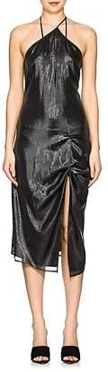 Helmut Lang Women's Silk-Blend Lamé Slipdress