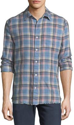 Frame Frayed Flannel Long-Sleeve Shirt