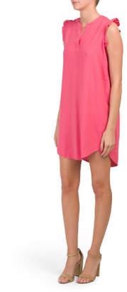 Ruffle Linen Blend Dress