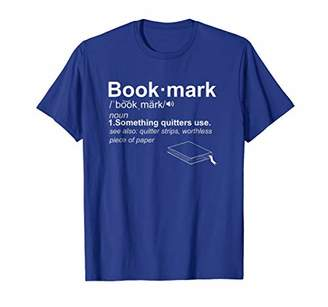 Bookmark Definition Funny Book Lover T Shirt