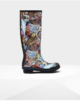 Hunter Womens Original Hypernormal Print Tall Rain Boots