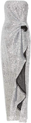 Prabal Gurung Exclusive Strapless Draped Sequined Gown