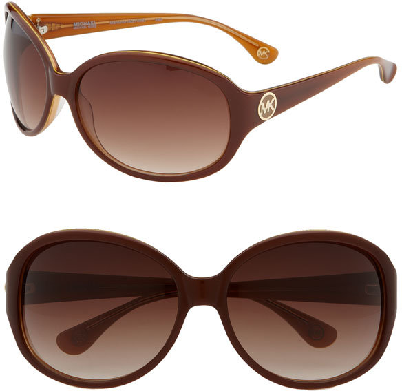 MICHAEL Michael Kors 'Marsella' Oversized Round Sunglasses