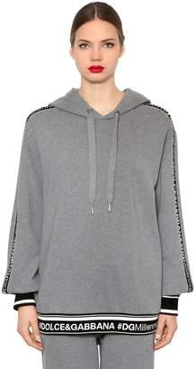 Dolce & Gabbana Logo Band Jersey Sweatshirt Hoodie