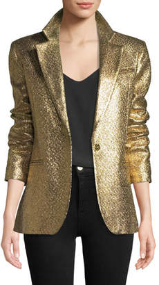 Milly Eva Metallic Blazer Jacket