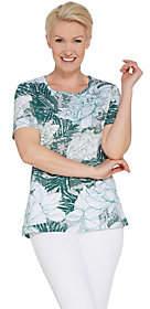 Factory Quacker Short-Sleeve Floral PrintedKnit T-Shirt