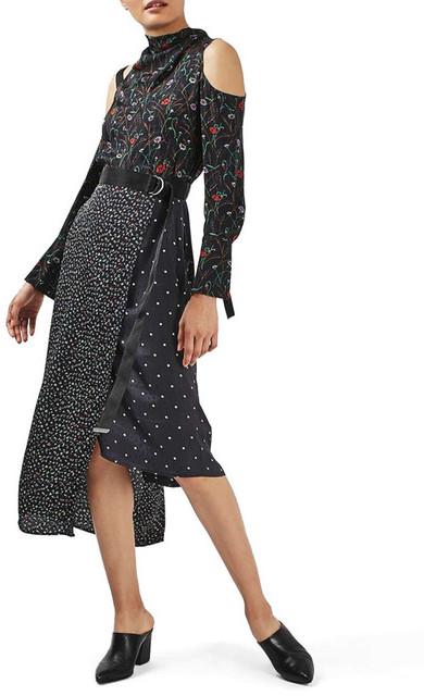 TopshopTOPSHOP Mixed Print Dress