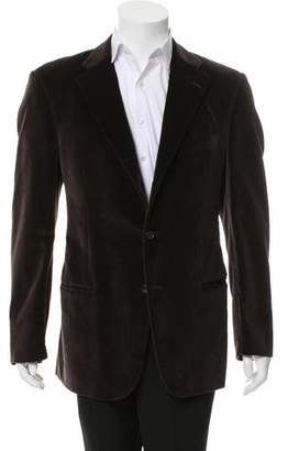 Gucci Velvet Three-Button Blazer