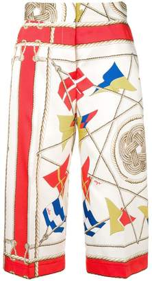 MSGM sail print cropped trousers