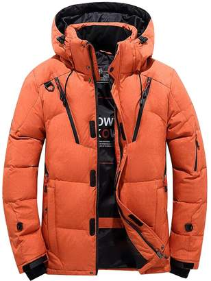 LD-men clothes LD Mens Winter Thick Zip Up Hooded Down Puffer Coat Jacket Puterwear Parka L