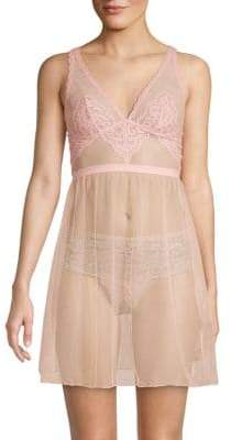 Cosabella Lace-Trimmed Mesh Babydoll