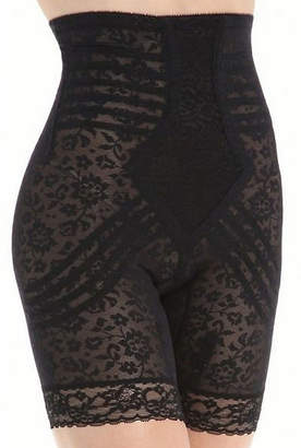 Rago High-Waist Lacette Invisinet Panel Stretch-Lace Extra Firm Control Thigh Slimmers - 6207