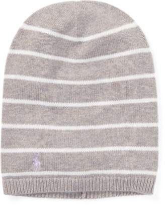 Ralph Lauren Striped Cashmere-Blend Hat