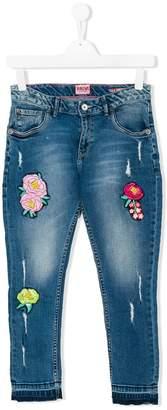 Vingino Teen appliquéd cropped jeans