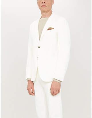 Eleventy Regular-fit cotton and cashmere-blend blazer