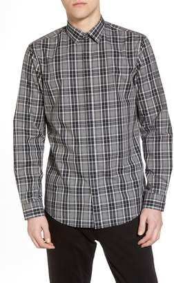CALIBRATE Trim Fit Plaid Sport Shirt