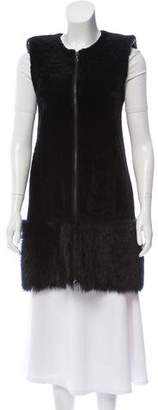 Drome Two-Tone Shearling Vest