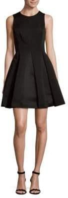 Halston Roundneck Fit-&-Flare Dress