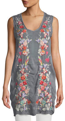 Johnny Was Cattleya Embroidered Long Tunic