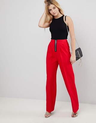 Asos Design Tailored Pant With Zip Front In Pop