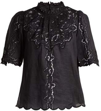 Isabel Marant - Mumba Broderie Anglaise Top - Womens - Black